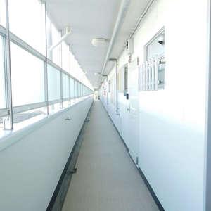 目白台コーポ(6階,3299万円)のフロア廊下(エレベーター降りてからお部屋まで)