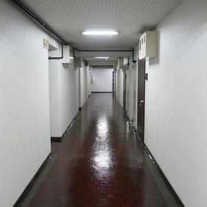 柳恵キングハイツ(6階,3480万円)のフロア廊下(エレベーター降りてからお部屋まで)