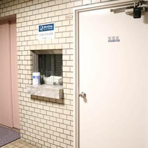中銀日本橋浜町マンシオンのエレベーターホール、エレベーター内