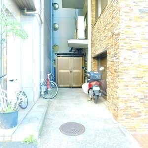 第25宮庭マンションの駐輪場