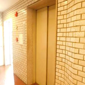 ハイマート早稲田のエレベーターホール、エレベーター内