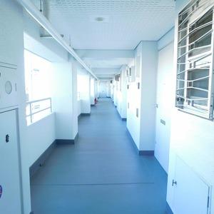 クレセントマンション(5階,5980万円)のフロア廊下(エレベーター降りてからお部屋まで)