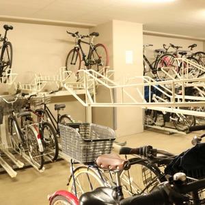 サンパレス駒込壱番館の駐輪場