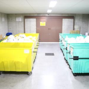 クレストフォルム上野の杜のごみ集積場