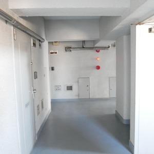向島ハイツ(8階,)のフロア廊下(エレベーター降りてからお部屋まで)