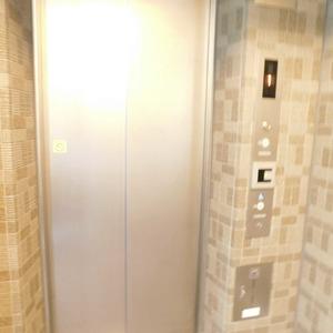 プレシス文京小石川静穏の杜のエレベーターホール、エレベーター内