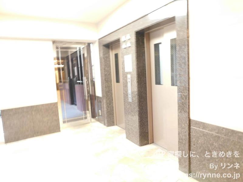 ディアナコート恵比寿のエレベーターホール、エレベーター内1枚目
