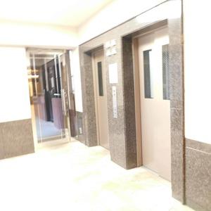 ディアナコート恵比寿のエレベーターホール、エレベーター内