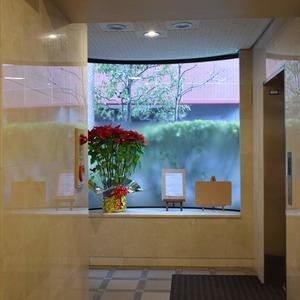 朝日マンション白金通りのエレベーターホール、エレベーター内