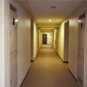 朝日マンション白金通り(5階,)のフロア廊下(エレベーター降りてからお部屋まで)