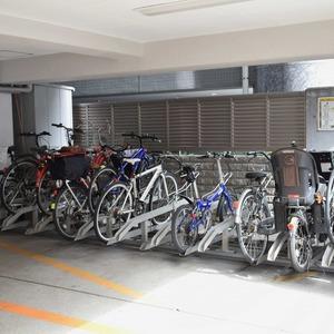 中銀南青山マンシオンの駐輪場