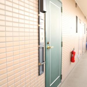 マイキャッスル入谷(9階,4480万円)のフロア廊下(エレベーター降りてからお部屋まで)