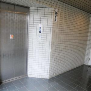 メイゾン上北沢のエレベーターホール、エレベーター内