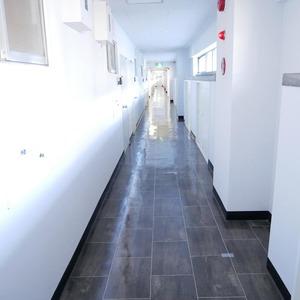 経堂セントラルマンション(2階,3980万円)のフロア廊下(エレベーター降りてからお部屋まで)
