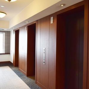 青山ザタワー(8階,)のフロア廊下(エレベーター降りてからお部屋まで)