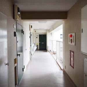 日商岩井恵比寿マンション(3階,6490万円)のフロア廊下(エレベーター降りてからお部屋まで)