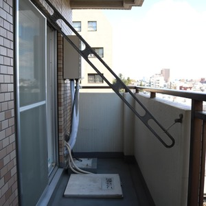 朝日根津マンション(7階,4599万円)のバルコニー