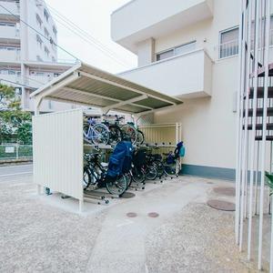 日商岩井恵比寿マンションの駐車場