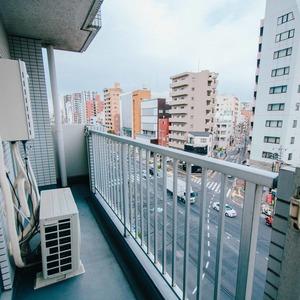 ハイマート入谷(6階,)のバルコニー