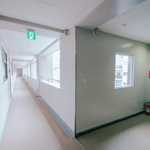 ドミ麻布(5階,8480万円)のフロア廊下(エレベーター降りてからお部屋まで)