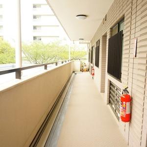 ザ・パームス西戸山(4階,)のフロア廊下(エレベーター降りてからお部屋まで)