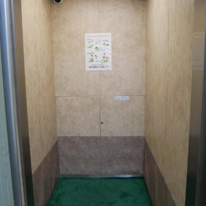 グレイス吾妻のエレベーターホール、エレベーター内