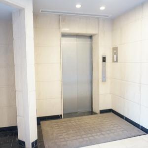 ファミールグラン白金ヴェルデフォーレのエレベーターホール、エレベーター内