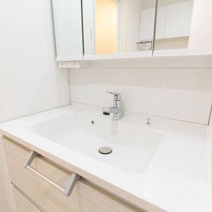 三ノ輪アムフラット(2階,3799万円)の化粧室・脱衣所・洗面室