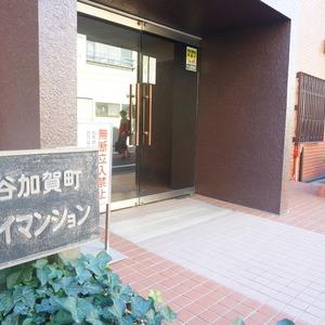 市谷加賀町スカイマンションのマンションの入口・エントランス