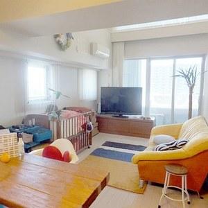 ザ晴海レジデンス(13階,6880万円)の居間(リビング・ダイニング・キッチン)