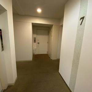 コンフォルテハイム蔵前(7階,)のフロア廊下(エレベーター降りてからお部屋まで)