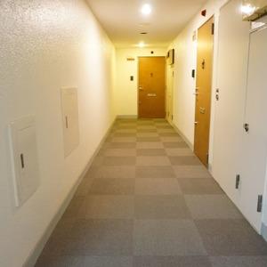 ライオンズマンション箱崎町(4階,5680万円)のフロア廊下(エレベーター降りてからお部屋まで)