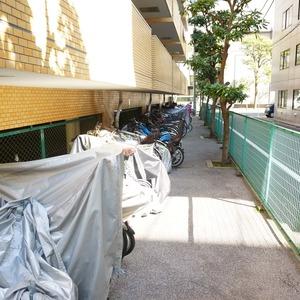 ライオンズマンション箱崎町の駐輪場