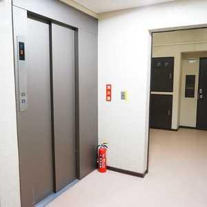 サンビューハイツ四番町のエレベーターホール、エレベーター内