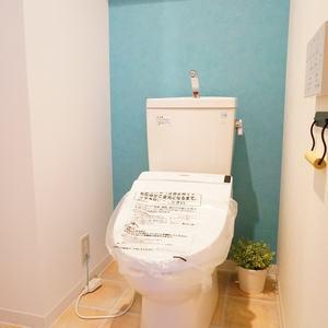 ラグジュアリーアパートメント若林CQ(2階,)のトイレ