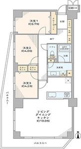 墨田区本所オーベル本所吾妻橋5499万円の間取り図