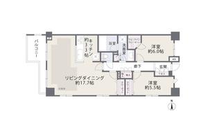 渋谷区広尾オープンレジデンシア広尾2の間取り図