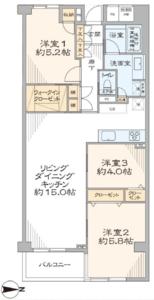 渋谷区幡ヶ谷ビオライフハウスの間取り図