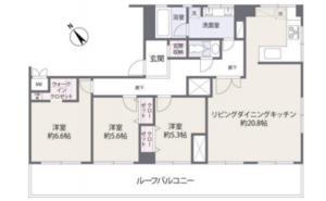 目黒区中目黒目黒ロイヤルハイツ8980万円の間取り図
