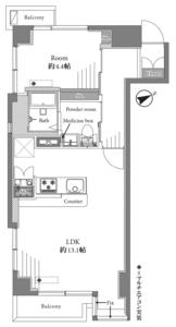 豊島区西池袋ソフトタウンニュー池袋の間取り図