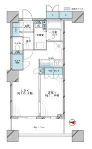品川区東五反田パークタワーグランスカイの間取り図
