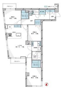 千代田区四番町サンビューハイツ四番町の間取り図