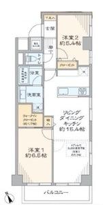 中央区日本橋箱崎町ライオンズマンション箱崎町5680万円の間取り図