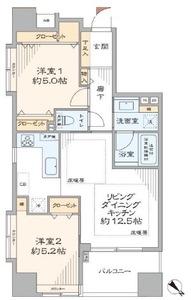 中央区新川グラーサ東京イーストの間取り図