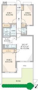 新宿区中落合ガーデンホーム落合ヒルズ6199万円の間取り図