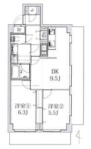江東区亀戸ライオンズマンション亀戸カナメビルの間取り図
