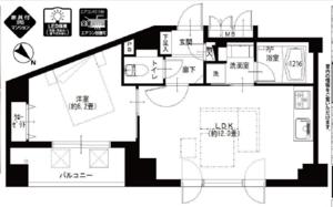中央区日本橋箱崎町デリード日本橋箱崎の間取り図