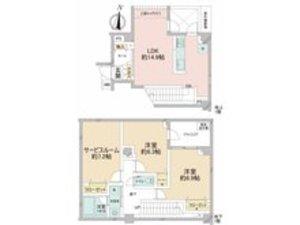 中野区本町オープンレジデンス中野道玄町5580万円の間取り図