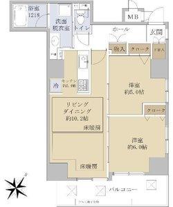 板橋区中丸町アイディーコート池袋西スターファーロ4498万円の間取り図