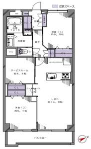 豊島区高田パサニアガーデン目白台6780万円の間取り図